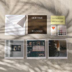 postcard set (brown)