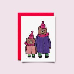 [drawingpaper] 카드 - 곰부자