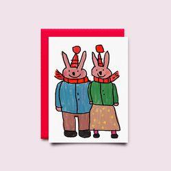 [drawingpaper] 카드 - 토끼커플