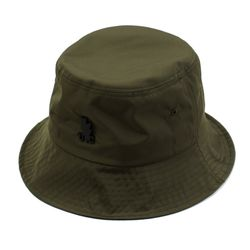 BK Metal Shiny Khaki Bucket Hat 버킷햇