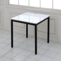 더조아 마블티테이블600x600철제사각30각 대리석무늬