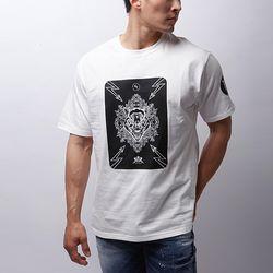 그린바나나 남자 긴팔 화이트 라운드 티셔츠 wild beast