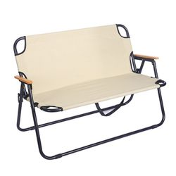 더블 벤치 폴딩체어 2인용 LXS-092 접이식 캠핑 의자