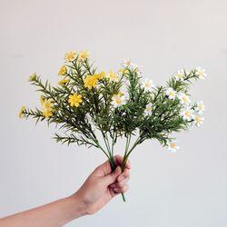 미니 데이지 꽃다발 조화 2종택1