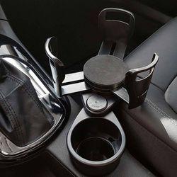 자동차 수납 휴대폰거치대 차량용2in1매직컵홀더