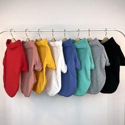 컬리언컬리 강아지 고양이 기본 무지 티셔츠 8colors
