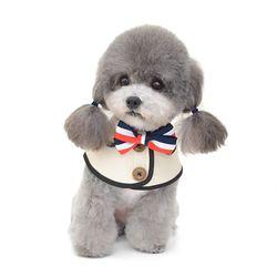 스트라이프리본 넥카라 강아지옷