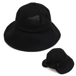 Linen Backopen Black Bucket Hat 버킷햇