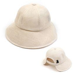 Linen Backopen Ivory Bucket Hat 버킷햇