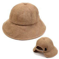 Linen Backopen Beige Bucket Hat 버킷햇