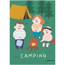 패밀리 가족 캠핑 포스터 벽보 액자 인테리어 거실 그림 (A3)