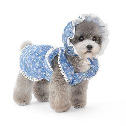 레이스 펀칭 강아지 원피스(모자 별도구매)