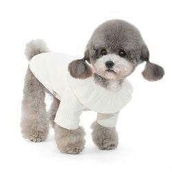 연잎카라 강아지 티셔츠