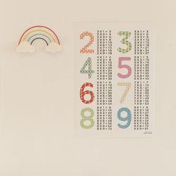 어린이 학습 벽보 포스터 유아 아이방 구구단 2-9 (A2)