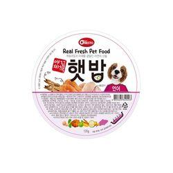 애견비책 햇밥 연어120g 강아지 사료캔