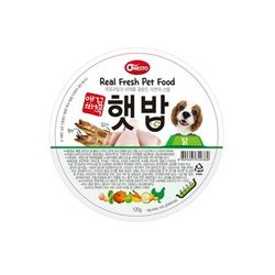 애견비책 햇밥 닭고기 120g 강아지 사료캔