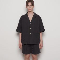 M325 linen setup half jacket black