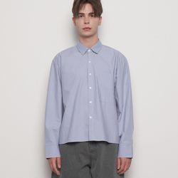 MW617 crop over shirts blue
