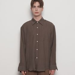 MW617 pleats over shirts brown