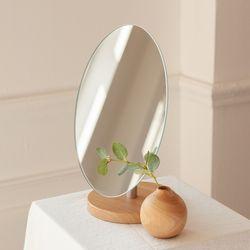 노프레임 우드 받침 탁상용 거울 테이블 화장 스탠드 인테리어