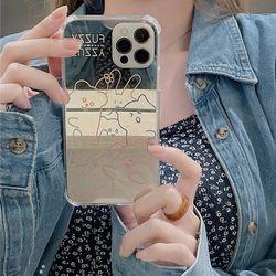 아이폰 12 11 XR SE2 X 8 낙서 미러 실리콘 폰케이스