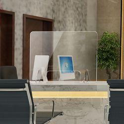 세이프 투명 아크릴 칸막이(오픈 창구형) (60x60cm)