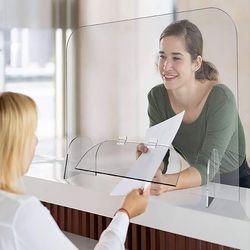 세이프 투명 아크릴 칸막이(도어 창구형) (50x50cm)