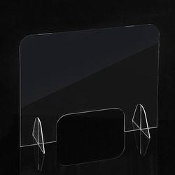 세이프 투명 아크릴 칸막이(오픈 창구형) (50x50cm)
