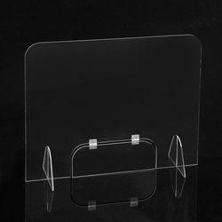 세이프 투명 아크릴 칸막이(도어 창구형) (60x60cm)