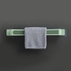 주방 욕실 회전 3단 수건걸이(민트)
