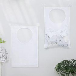 세탁실 빨래 바구니 공간활용 벽걸이빨래망 2개세트