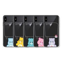 케어베어 페이보릿 클리어케이스 아이폰 7+ 8+