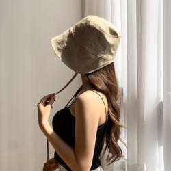 베이직 끈 코튼 보넷 벙거지 모자 3color