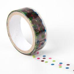 컬러 도트무늬 테이프 디자인테이프 다이어리꾸미기