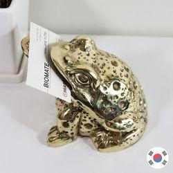 엽전 문 황금 두꺼비 명함꽂이 동공예 장식품 STD-524
