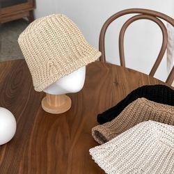 니트 사각 벙거지 버킷햇 모자 4color