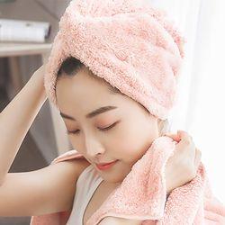꽈배기 헤어 드라이타월(핑크)