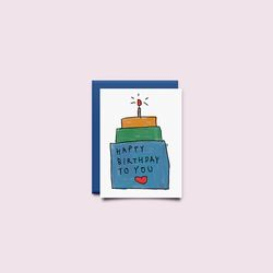 [drawingpaper] 미니카드 - 케익