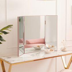 인디 스틸바 400 3면 화장대 거울 PKF016