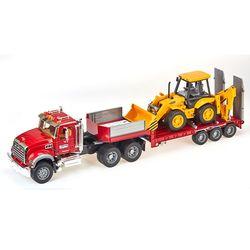 MACK 트럭과 백호 로더