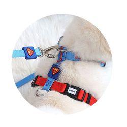 강아지 하네스 어깨줄 개줄 산책 몸통줄 슈퍼맨 M