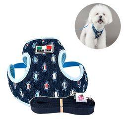 wk 이탈리아 빈티지 하네스XL 강아지 반려견 애견목줄
