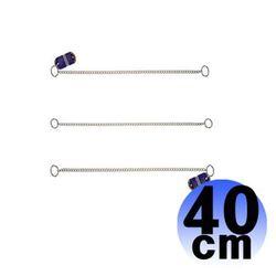HS 강아지 스텐 장식목줄 1.5mm 40cm 1P 애견 목줄