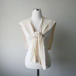 여름 니트 루즈핏 어깨 숄 가디건 (2color)