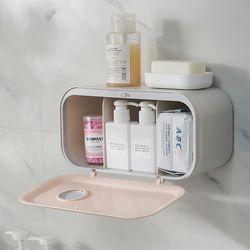 무타공 접착식 욕실 휴지 수납함 휴지걸이 욕실용품