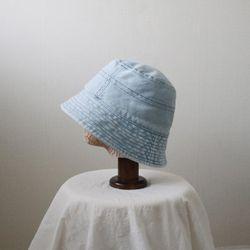 데님 워싱 기본 무지 벙거지 모자 버킷햇 (2color)