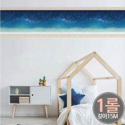 [1롤] HWP-21655 별이 빛나는 밤에 띠벽지(50cmx15M)