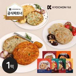 [교촌] 닭가슴살 원형 스테이크 100g 6종 1팩
