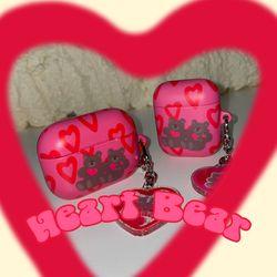 Heart Bear airpods case (하드에어팟케이스)