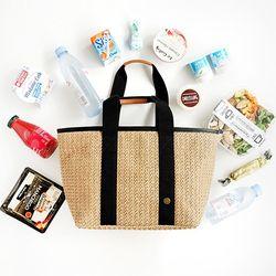 Bonjour Rattan cooler bag - Tan L